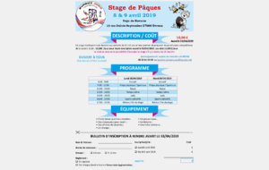 Stage Multi Sports Pâques 2019